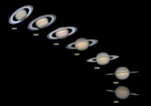 Inclinaison des anneaux de Saturne entre 2004 et 2010 par Alain G.