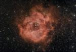 NGC2244 Nébuleuse de la Rosette dans la Licorne, photo prise dans le sud-ouest de la France par Alain G.