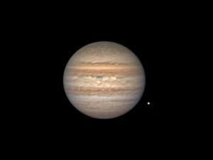 Jupiter le 29/10 à 01h36 CST avec son satellite Europe dans le sud-ouest de la France par Alain G.