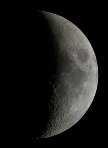 Premier quartier de Lune gibbeuse, par Alain G.