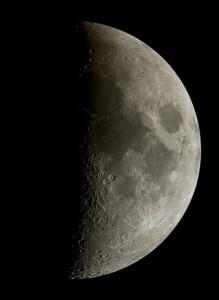 Premier quartier de Lune,  par Alain G.