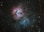 M20 (NGC 6514) Nébuleuse de la Trifide dans le Sagittaire, par Monique Q.